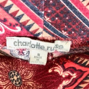 Charolette Russe Pants - Charlotte Russe Printed Boho Flare Stretch Pants